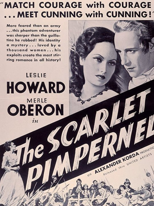 Leslie Howard & Merle Oberon in The Scarlet Pimpernel, dir. Alexander Korda
